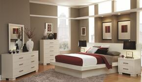 Jessica 202990KE6PCSET 6-Piece Bedroom Set with King Platform Bed, Chest, Dresser, Mirror and 2 Nightstands in White
