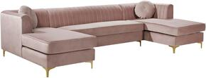 Meridian 661PinkSectional