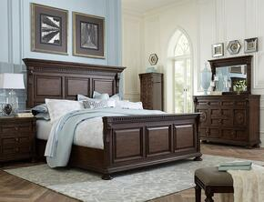 Lyla 4912QPB2NLCDM 6-Piece Bedroom Set with Queen Panel Bed, Two 3-Drawer Nightstands, Lingerie Chest, Door Dresser and 44