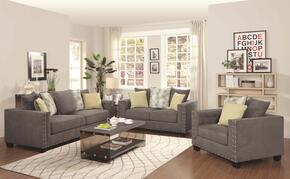 50142S1LS1C 3 Piece Kelvington Kit with One Tuxedo Sofa, One Loveseat and Chair in Charcoal