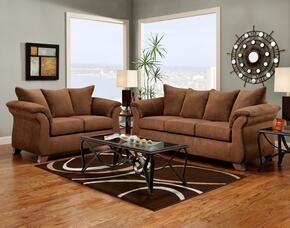 6700-AC-SL Verona IV 2 Piece Payton Living Room Set, Sofa + Loveseat, in Aruba Chocolate