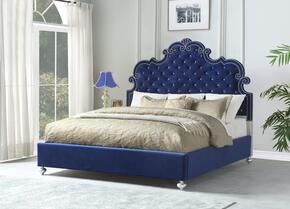 Cosmos Furniture AMIRAQUEENBEDBLUE