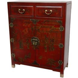 Oriental Furniture LQCAB1RED