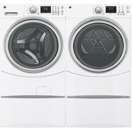 White Front Load Laundry Pair with GFWN1600JWW 27