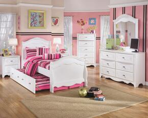 Exquisite Twin Bedroom Set with Trundle Bed, Dresser, Mirror, 2 Nightstands and Chest in White