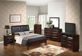 G1525AFBDMNCHTV2 6 Piece Set icnluding  Full Size Bed, Dresser, Mirror, Nightstand, Chest and Media Chest in Cappuccino