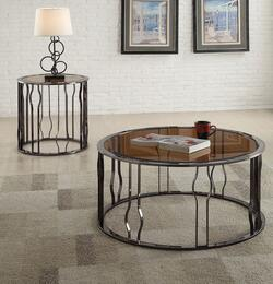 Alys 80930CE 2 PC Living Room Table Set with Coffee Table + End Table in Black Nickel Finish