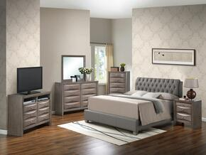 G1505CFBUPCHDMNTV2 6 Piece Set including Full Size Bed, Chest, Dresser, Mirror, Nightstand in Gray
