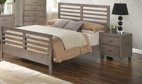 G1205CTB2N 2 Piece Set including Twin Bed and Nightstand  in Gray