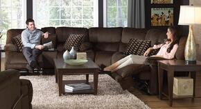 Riley Collection 1229-8-1-1870-09/2752-49 3-Piece Living Room Set with Reclining Loveseat, Corner Wedge and Reclining Sofa in Coffee