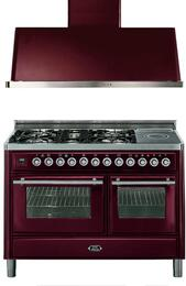 2-Piece Burgundy Kitchen Package with UMT120SDMPRB 48