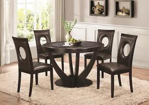 1067415PC Stapleton Dining Table and 4 Chairs in Cappuccino Finish
