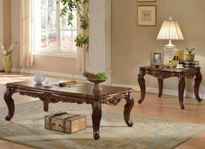 201CE 2 PC Living Room Table Sets with Coffee Table + End Table in Rich Cherry Finish