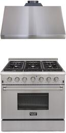 Professional Series 2-Piece Stainless Steel Kitchen Package with KRD366FLP 36