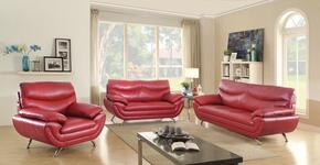 G432SET 3 PC Living Room Set with Sofa + Loveseat + Armchair in Red Color