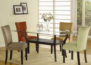 101491TASET5 Bloomfield 5 PC Rectangle Dining Set (Table and 4 Side Chairs with Taupe Ochre Upholstery)