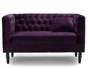 Wholesale Interiors TSF8127LSPURPLEVELVET