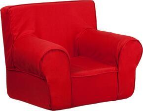 Flash Furniture DGCHKIDSOLIDREDGG