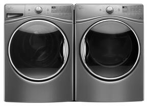 "Chrome Shadow Front Load Laundry Pair with WFW92HEFC 27"" Washer and WED92HEFC 27"" Electric Dryer"