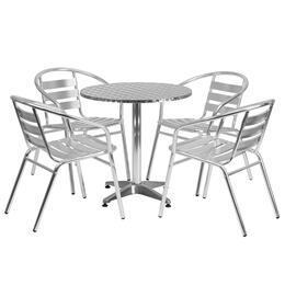 Flash Furniture TLHALUM28RD017BCHR4GG