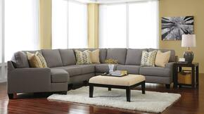 Chamberly 243005LCDSSACO2ETR2L 7-Piece Living Room Set with 5PC Left Cuddler Sectional, Accent Ottoman, 2 End Tables, Rug and 2 Lamps in Alloy
