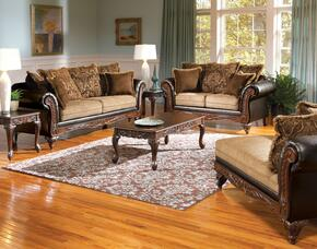 Fairfax 50340SLC 3 PC Living Room Set with Sofa + Loveseat + Chaise in Chocolate and Splurge Color