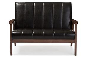 Wholesale Interiors BBT8011A2BROWNLOVESEAT