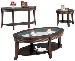 Simpson 5525CES 3 PC Living Room Table Set with Coffee Table + End Table + Sofa Table in Cappuccino Finish