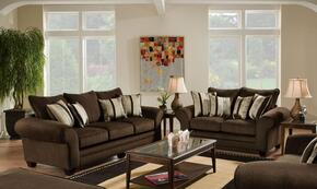 1837033920 Clearlake Sofa + Loveseat with 16 Gauge Border Wire, kendu Onyx Toss Pillows, Kiln Dried Hardwood Frames and Hi-Density Foam Core Cushions in Waverly Godiva