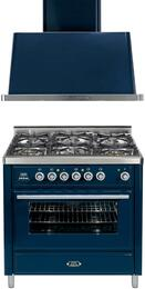 2-Piece Midnight Blue Kitchen Package with UMT90DMPI 36