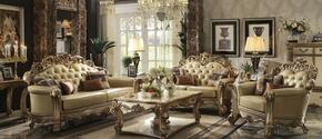 Vendome 53000SLC 3 PC Living Room Set with Sofa + Loveseat + Chair in Gold Patina Finish