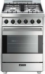 smeg c24ggxu 24 inch gas range with 4 burners sealed cooktop
