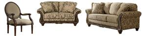 Ashlynn Collection MI-5301SLAC-TOPA 3-Piece Living Room Set with Sofa, Loveseat and Accent Chair in Topaz Color