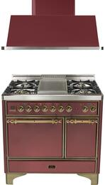 2-Piece Burgundy Kitchen Package with UMCD100FDMPRBY 40