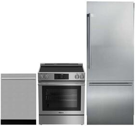 "3-Piece Kitchen Package with BRFB1920SS 30"" Bottom Freezer Refrigerator, BERU30420SS 30"" Freestanding Electric Range, and a free DWT55100SS 24"" Built In Fully Integrated Dishwasher in Stainless Steel"