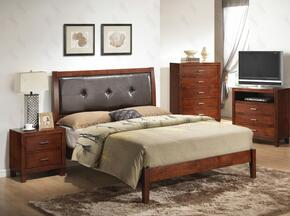 G1200AQBNTV 3 Piece Set including Queen Bed, Nightstand and Meida Chest  in Cherry