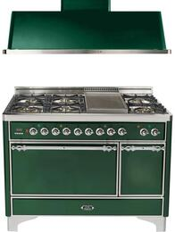2-Piece Emerald Green Kitchen Package with UMC120FDMPVSX 48