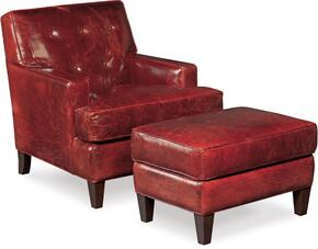 CC409 2-Piece Living Room Set with Covington Bogue Club Chair and Ottoman in Red