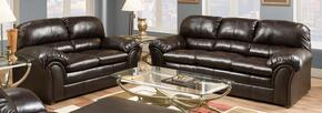 Vintage Riverside 6159-0302 2 Piece Set including Sofa and Loveseat Covered in a  Bonded Leather