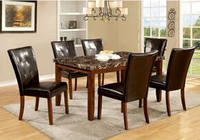 Elmore Collection CM3328T6SC 7-Piece Dining Room Set with Rectangular Table and 6 Side Chairs in Antique Oak Finish