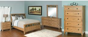 Sedona Collection 2334ROQBDMNC 5-Piece Bedroom Set with Queen Bed, Dresser, Mirror, Nightstand and Chest in Rustic Oak Finish
