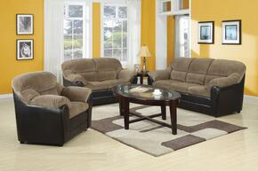 Connell Collection 15945SLC 3 PC Living Room Set with Sofa + Loveseat + Chair in Brown and Espresso Color