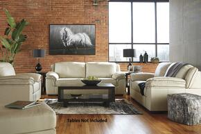 Islebrook Collection 1520438SLCO 4 PC Living Room Set with Sofa + Loveseat + Armchair + Ottoman in Vanilla Color