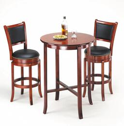 Chelsea Collection 07195BS 3 PC Bar Table Set with Bar Table + 2 Bar Stools in Oak Finish