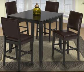 041905012CC Style 19 Five Piece Counter Height Dining Room Set with Table and Four Chairs, in Espresso