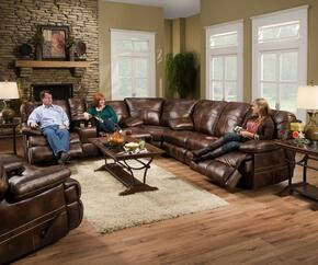 Miracle Saddle 50981-53630316 4 Pieces Set including Double Motion Sofa, Loveseat, Wedge and Recliner  with Stitched Detailing in Brown