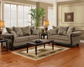 6000-SLC Verona 3 Piece Lily Living Room Set, Sofa + Loveseat + Chair, in Dream Java/Astrid Ebony