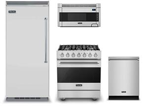 "4-Piece Kitchen Package with VCFB5363LSS 30"" Built In Counter Depth Freezer, RVGR33025BSSLP 30""Gas Freestanding Range, RVDW103SS 24"" Built In Dishwasher and  RVMH330SS 30"" Over The Range Microwave Oven in Stainless Steel"