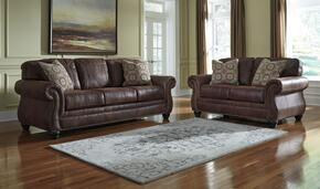 Breville 8000338SET2PC 2-Piece Living Room Set with Sofa and Loveseat in Espresso