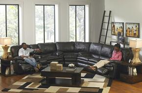 Perez Collection 4141-8-9-1233-28/3033-28 3-Piece Sectional with Reclining Sofa, Wedge and Reclining Loveseat in Steel